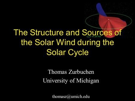 Thomas Zurbuchen University of Michigan The Structure and Sources of the Solar Wind during the Solar Cycle.
