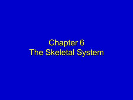 Chapter 6 The Skeletal System. Elsevier items and derived items © 2008, 2004 by Mosby, Inc., an affiliate of Elsevier Inc. Slide 2 FUNCTIONS OF THE SKELETAL.