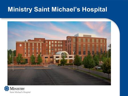 Ministry Saint Michael's Hospital. Baseline Data Purpose: Proactive approach to infection prevention for those patients having total joint replacement.