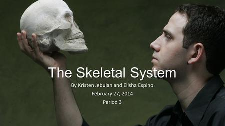 The Skeletal System By Kristen Jebulan and Elisha Espino February 27, 2014 Period 3.