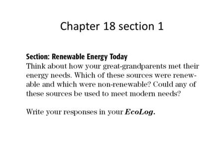 Chapter 18 section 1.