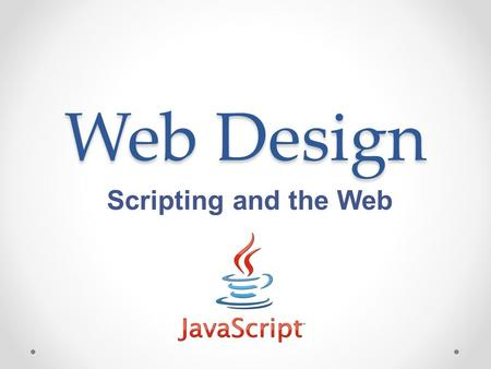Web Design Scripting and the Web. Books on Scripting.