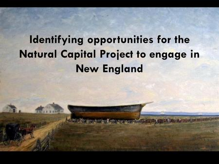 Identifying opportunities for the Natural Capital Project to engage in New England.