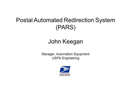 Background on USPS mail forwarding operations Overview of PARS
