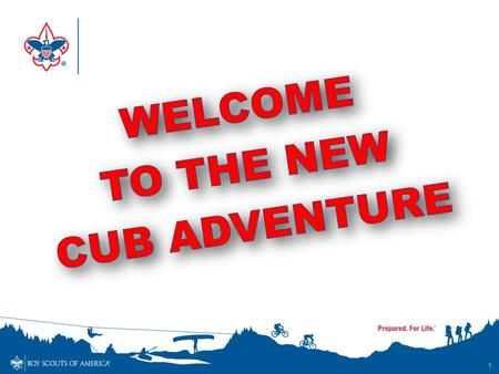 WELCOME TO THE NEW CUB ADVENTURE