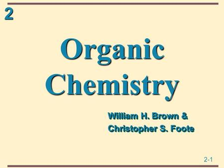 William H. Brown & Christopher S. Foote
