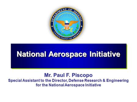 National Aerospace Initiative
