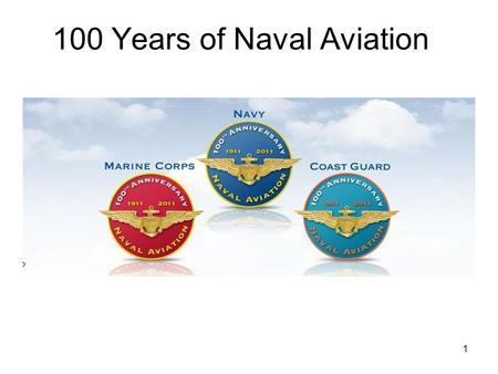 100 Years of Naval Aviation 1. Langley's flying machine 2.