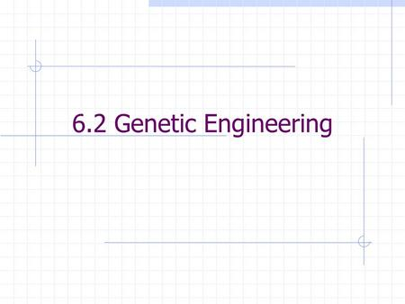 6.2 Genetic Engineering. Genetic Engineering Altering the sequence of DNA molecules Important in developing drugs Insulin  Human insulin produced by.