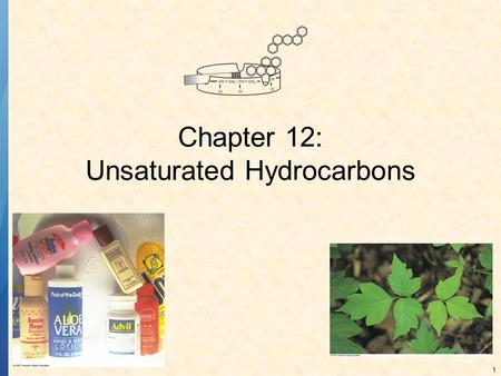 1 Chapter 12: Unsaturated Hydrocarbons. 2 UNSATURATED HYDROCARBONS contain carbon-carbon multiple bonds. Alkenes C=C double bonds Alkynes triple bonds.