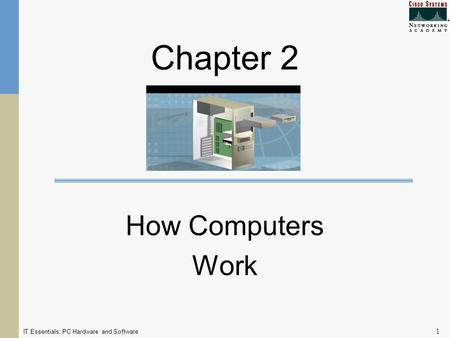 IT Essentials: PC Hardware and Software 1 Chapter 2 How Computers Work.