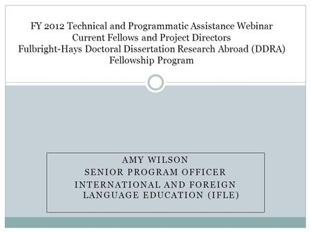 Fulbright hays doctoral dissertation research abroad