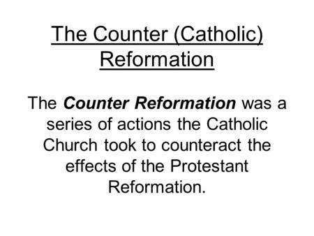 the effects of catholicism on the