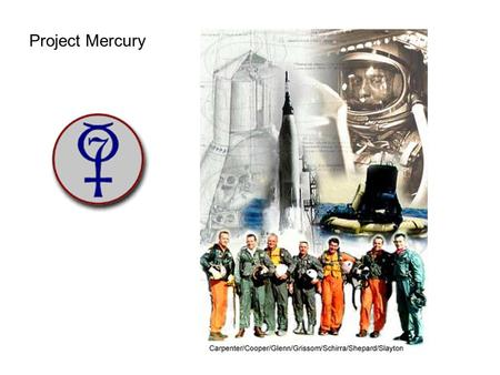 Project Mercury. PROJECT MERCURY Initiated in 1958, completed in 1963, Project Mercury was the United States' first man-in-space program. The objectives.