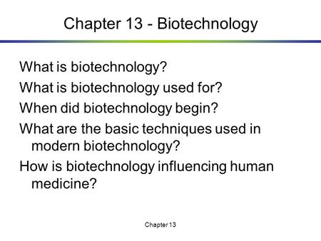biotechnology process and applications project