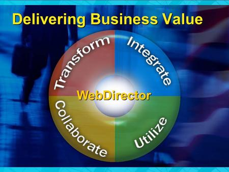 Delivering Business Value WebDirector. Personal Productivity Disconnected Business Processes Disconnected Information Disconnected People Forms LOB.