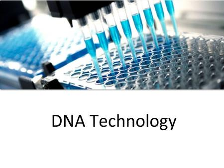 DNA Technology. I. What Can We Do With DNA? Due to recent advancements in technology, we can now use DNA in many ways. These are 3 common ways that scientists.