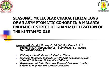 thesis on malaria in ghana