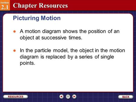 Section 2.1 Picturing Motion