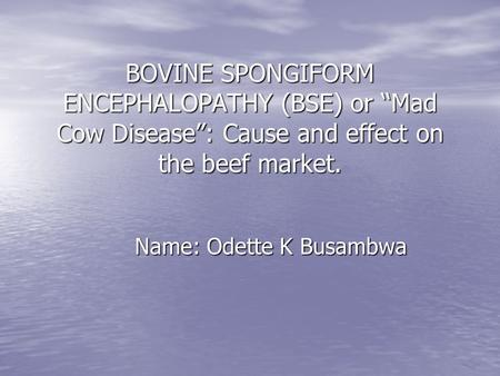 the mad cow disease vcjd causes risks and effects