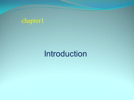 Chapter1 Introduction.