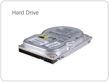 <strong>Hard</strong> <strong>Drive</strong>. <strong>Drive</strong> Capacity MeasurementContainsUsually Used for Measuring Size Of KB (kilobytes 1,024 bytesFloppy <strong>drives</strong> MB (megabytes)1,024 KBDCs, small.