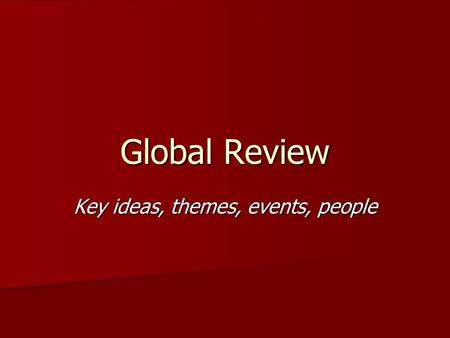 2010 global regents thematic essay