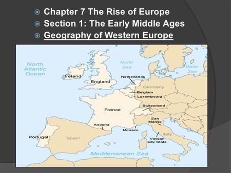 Chapter 7 The Rise of Europe