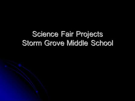 Storm Grove Middle School