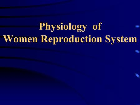 Physiology of Women Reproduction System Introduction of the internal reproductive organs The vagina is a muscular canal, which leads from the uterus.
