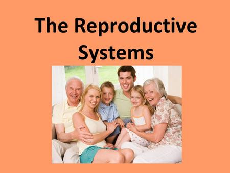 The Reproductive Systems. The Endocrine System Endocrine System Regulates long-term changes in the body, such as growth and development. Endocrine Glands.