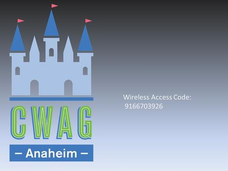 Wireless Access Code: 9166703926. www.mwe.com Boston Brussels Chicago Düsseldorf Houston London Los Angeles Miami Milan Munich New York Orange County.