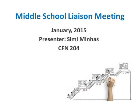 Middle School Liaison Meeting