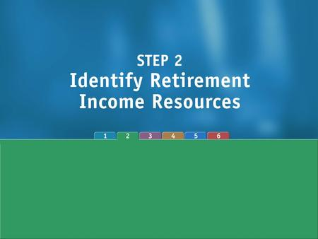 Major Retirement Income Sources 1.Social Security 2.Employer-sponsored retirement plans 3.Personal savings 4.Work (wage income)