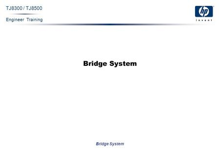 Engineer Training Bridge System TJ8300 / TJ8500 Bridge System.