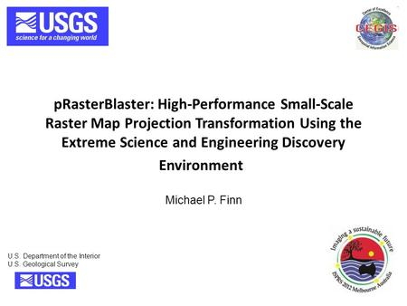 PRasterBlaster: High-Performance Small-Scale Raster Map Projection Transformation Using the Extreme Science and Engineering Discovery Environment U.S.