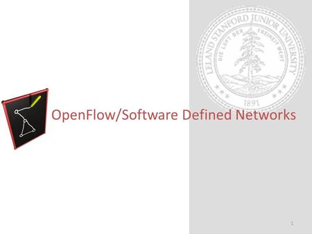 OpenFlow/Software Defined Networks 1. Exec Summary OpenFlow/SDN enables innovations within – Enterprise, backbone, & data center networks – Represents.