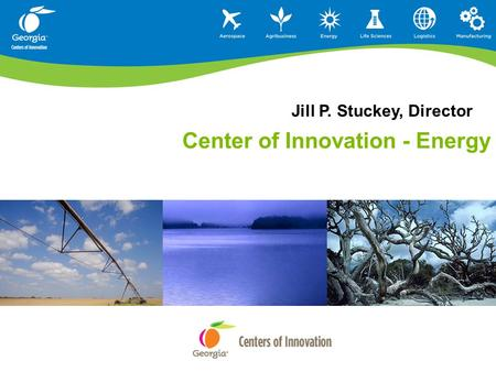Center of Innovation - Energy Jill P. Stuckey, Director.