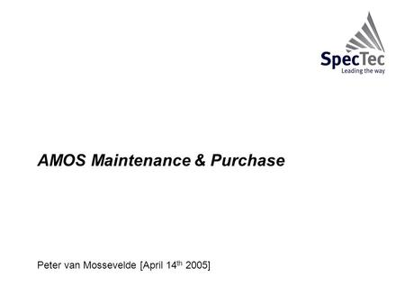 Peter van Mossevelde [April 14th 2005]