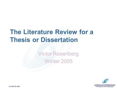 thesis literature review ppt