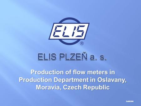 Production of flow meters in Production Department in Oslavany, Moravia, Czech Republic Es90530K.
