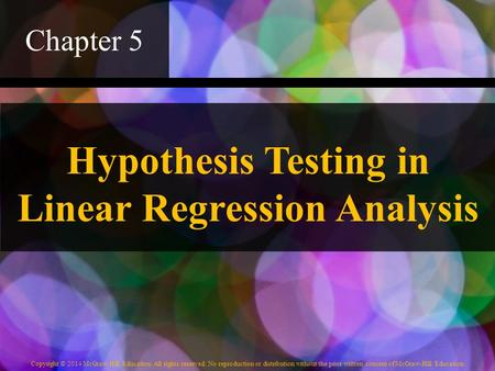 Hypothesis Testing in Linear Regression Analysis