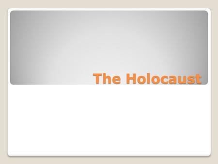The Holocaust. Create a cluster web in which you write down facts you can remember about the Holocaust from previous classes or books you have read: Holocaust.