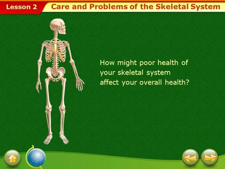 Care and Problems of the Skeletal System