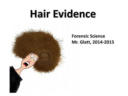 Hair Evidence Forensic Science Mr. Glatt, 2014-2015.