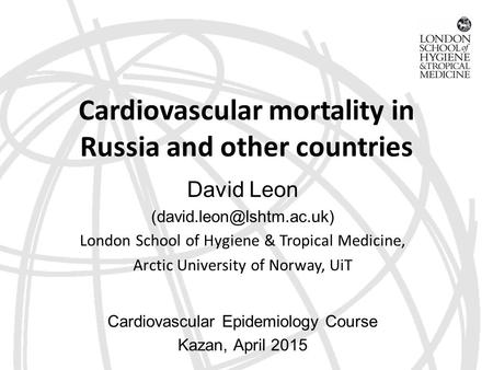 Cardiovascular mortality in Russia and other countries