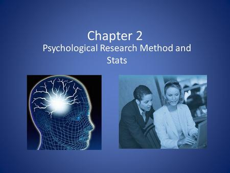 Psychological Research Method and Stats