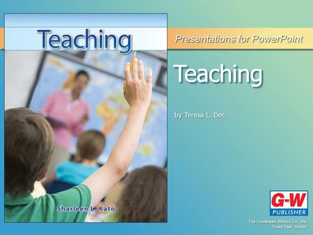 11 Planning for Instruction Permission granted to reproduce for educational use only.© Goodheart-Willcox Co., Inc. Planning for Instruction Teachers.