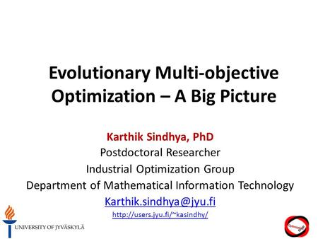 phd thesis multi objective optimization