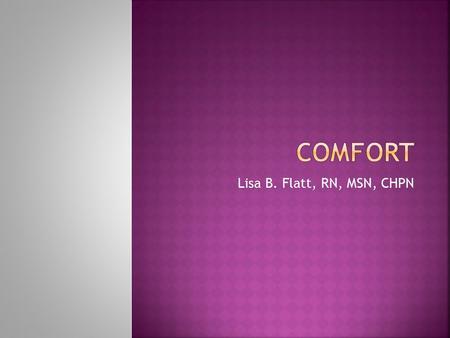 kolcabas theory of comfort essay